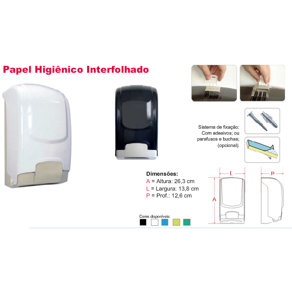 Dispenser p/Papel Higiênico Interfolhado Plestin