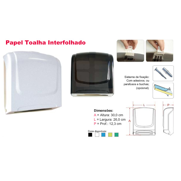 Dispenser p/Papel Toalha Interfolhado Plestin