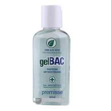 Gel Bac Anti-Séptico (Álcool Gel 70°) Com Aloe Vera 60ml